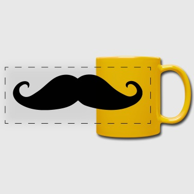Mustache Mustache, beard (cheap!) - Full Color Panoramic Mug
