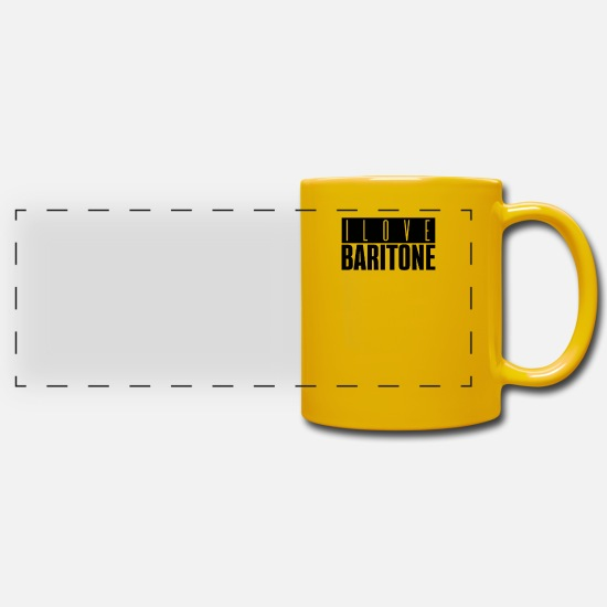 Gift Idea Mugs & Drinkware - baritone player - Panoramic Mug sun yellow