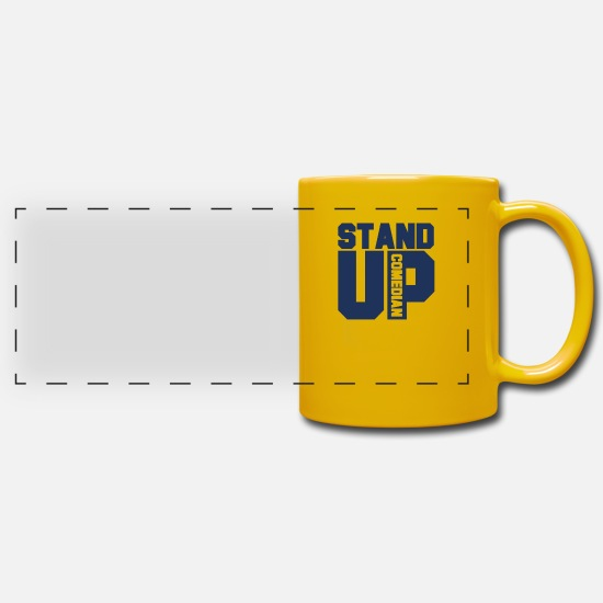 Comedian Mugs & Drinkware - Comedy Stand Up Comedian - Panoramic Mug sun yellow