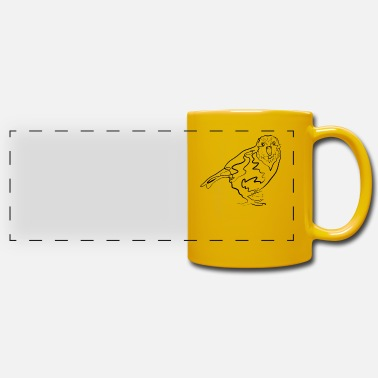 Line Drawing Kakapo Australia - one line drawing - Panoramic Mug