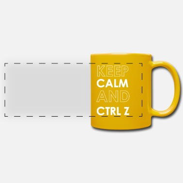 Keep Calm And Ctrl Z - Mug panoramique