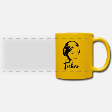 Music techno music - Panoramic Mug