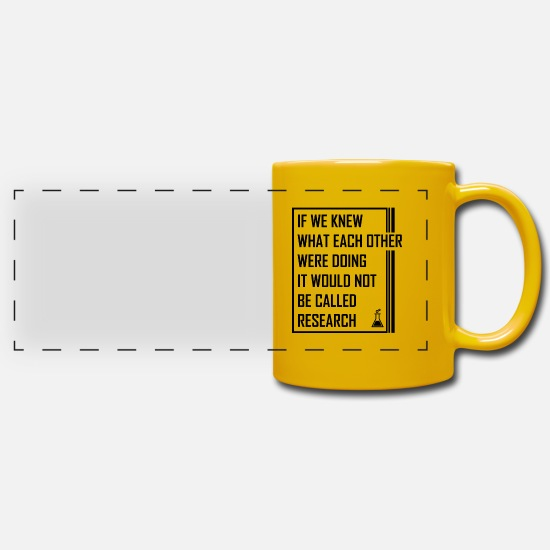 Professor Mugs & Drinkware - chemistry - Panoramic Mug sun yellow