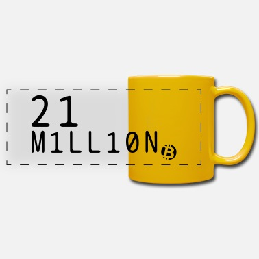 Btc 21 million Bitcoin BTC - Panoramic Mug