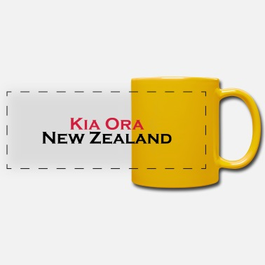 Kia Ora New Zealand - Panoramatasse einfarbig