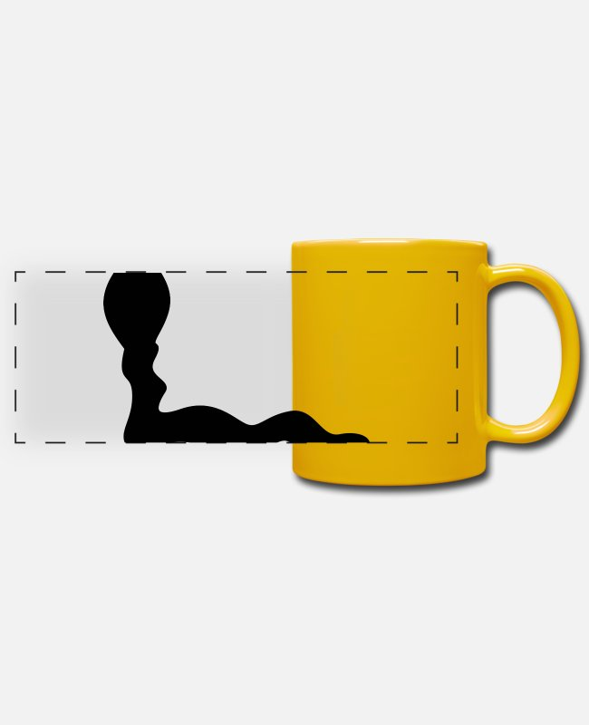 Nature Mugs & Drinkware - Loop 115 - Panoramic Mug sun yellow