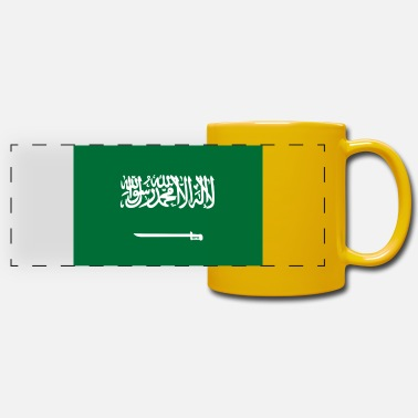King Salman National Flag Of Saudi Arabia - Panoramic Mug