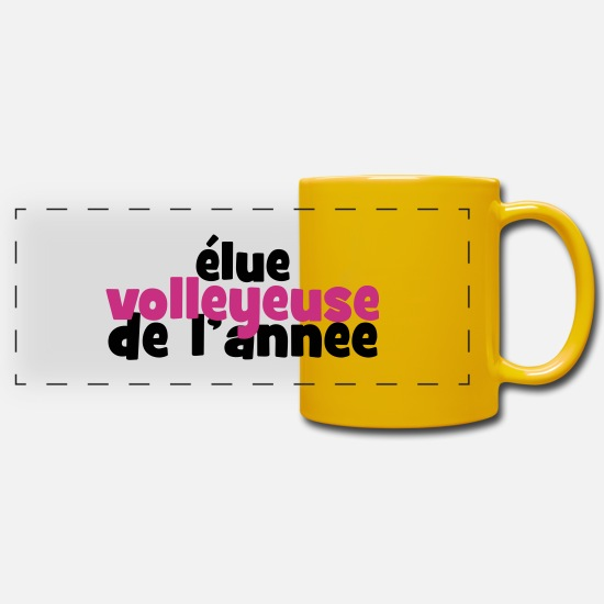 Play Mugs & Drinkware - Volleyball - Volley Ball - Sport - Sportsman - Panoramic Mug sun yellow