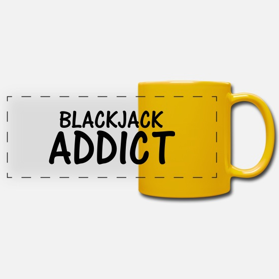 Black Jack Mugs & Drinkware - blackjack addict - Panoramic Mug sun yellow