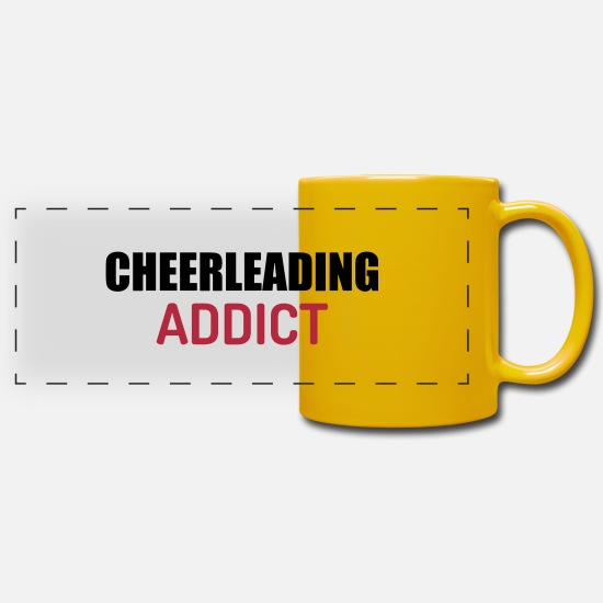 Play Mugs & Drinkware - Cheerleader Cheerleading Dance Sport Twirling - Panoramic Mug sun yellow
