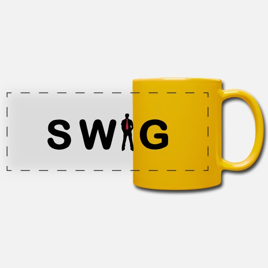 Junggeselle Just Swagger! Mugs et récipients - cool style swagg - Mug panoramique jaune soleil