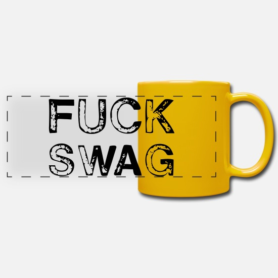 Citations Mugs et récipients - Fuck Swag - Mug panoramique jaune soleil