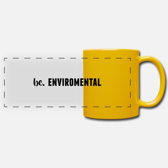 Quote Mugs & Drinkware - be. ENVIROMENTAL Womens - Panoramic Mug sun yellow