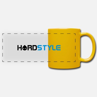 Hardstyle Hardstyle Head Text EDM Quote - Tazza panoramica
