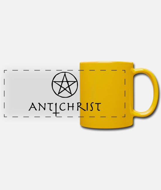 Guitar Mugs & Drinkware - antichrist - Panoramic Mug sun yellow