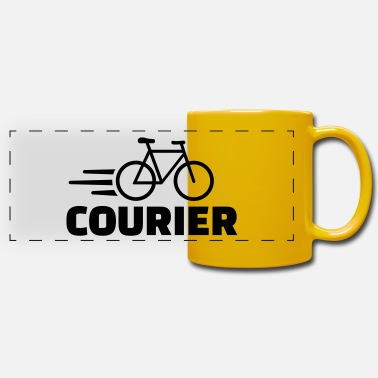 Courier Bike courier - Panoramic Mug