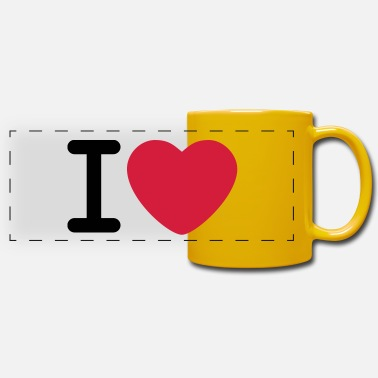 I Love I love - Panoramic Mug