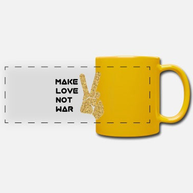 Make Love Not War Make love not war - Panoramic Mug