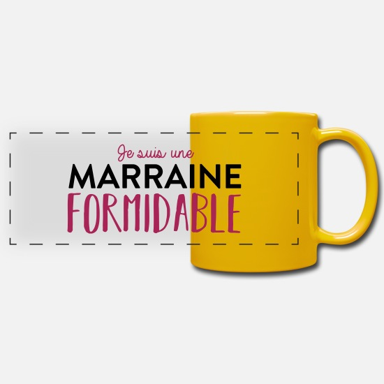 Marraine Mugs et récipients - Marraine formidable - Mug panoramique jaune soleil