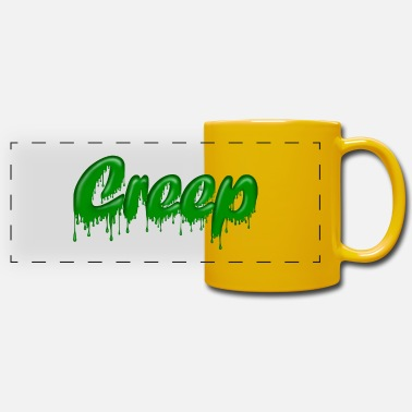 Gloopy Writing Green Gloop Creep - Panoramic Mug
