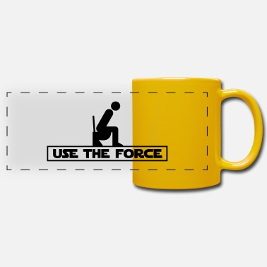 The Force Use the Force - Panoramic Mug