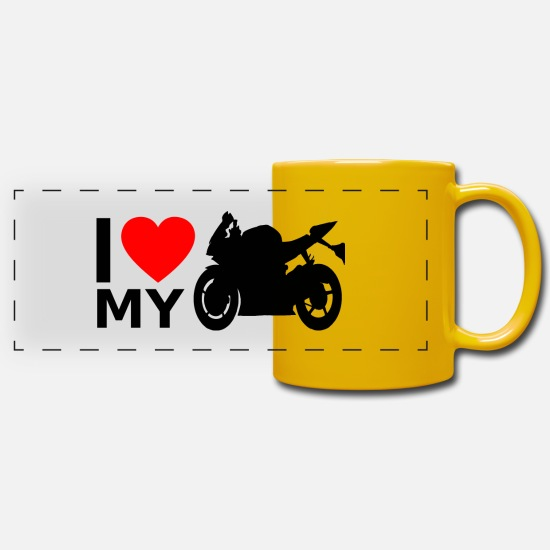 Love Mugs & Drinkware - Motorcycle Superbike - Panoramic Mug sun yellow