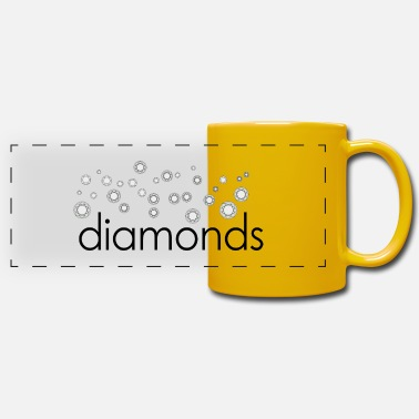 Diamond diamonds diamonds - Panoramic Mug