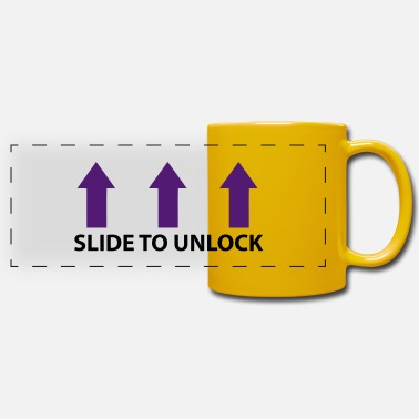 Open Underwear Slide to unlock (vertical, 2 colors) - Panoramic Mug