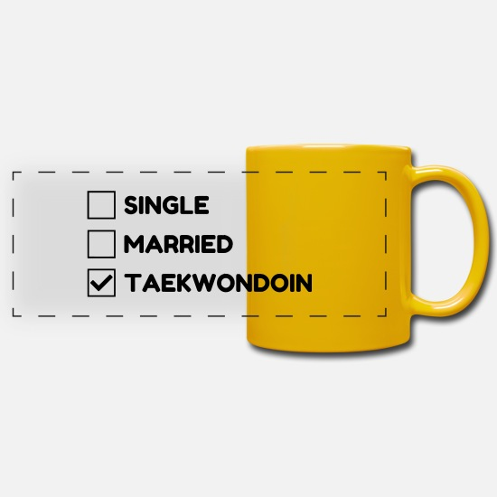 Tae Kwon Do Mugs & Drinkware - Taekwondo Taekwondoin Tae-Kwon-Do Tae Kwon Do - Panoramic Mug sun yellow