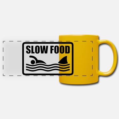 Humour slow food - Panoramic Mug