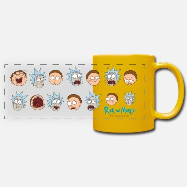 Rick Et Morty Émotions - Mug panoramique uni
