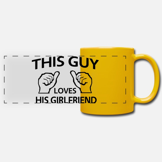 Miscellaneous Mugs & Drinkware - Loves His Girlfriend - Panoramic Mug sun yellow