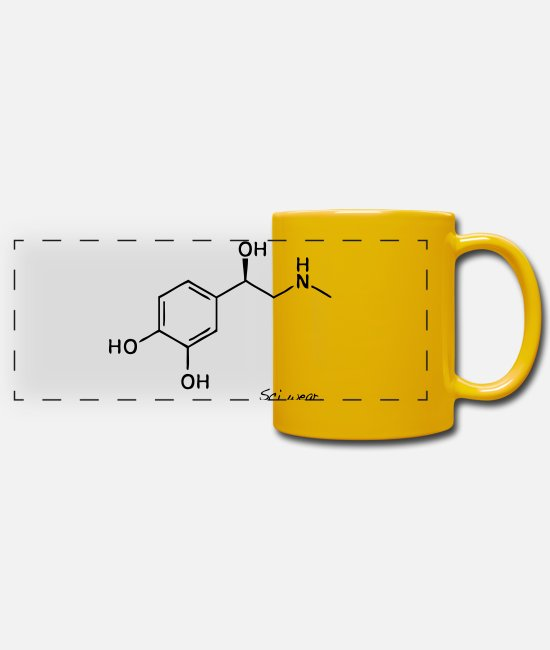 Chemistry Mugs & Drinkware - Epinephrine - Panoramic Mug sun yellow