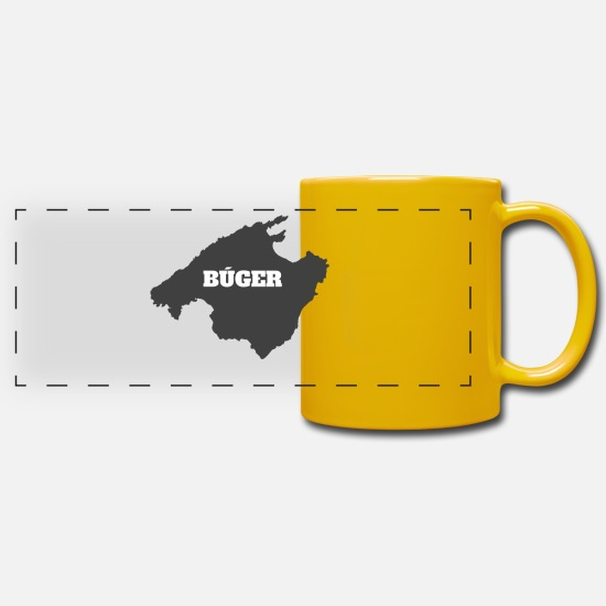 Travel Mugs & Drinkware - MALLORCA BU GER - Panoramic Mug sun yellow