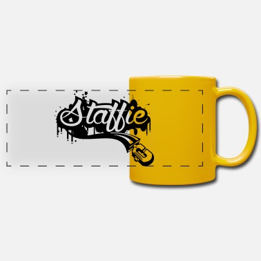 Staff Staffie graffiti - Mug panoramique