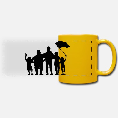 Fan fussballfans - fan - fans - Panoramic Mug