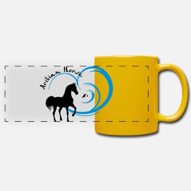 Horse Fan Arabian Horse for Arab fans - Panoramic Mug