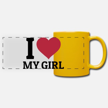 I I love my Girl - Mug panoramique