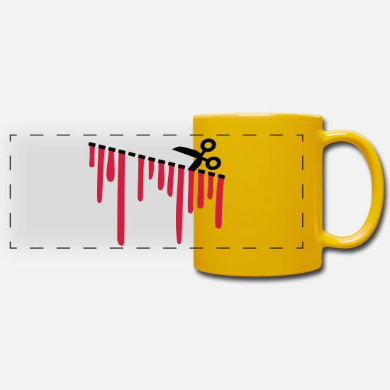 Scissors Mugs & Drinkware - cut - Panoramic Mug sun yellow