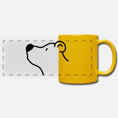 Beady Eyes Cute bear with big black nose - Panoramic Mug