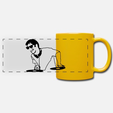 Player vinyl dj - Panoramic Mug