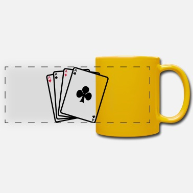 Cards poker cards - Mug panoramique