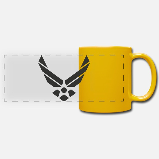 Army Mugs & Drinkware - Star emblem - Panoramic Mug sun yellow