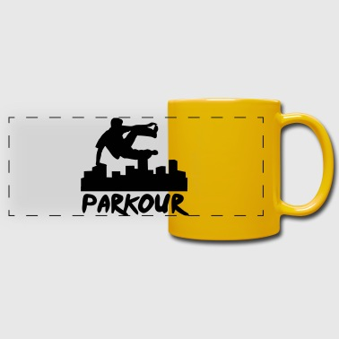 Free running in the city, parkour - Mug panoramique uni
