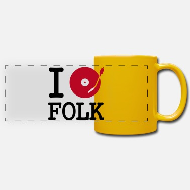 Stereo I dj / play / listen to folk - Panoramic Mug