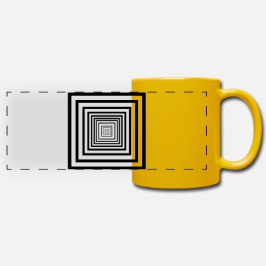Rectangle rectangles - Mug panoramique