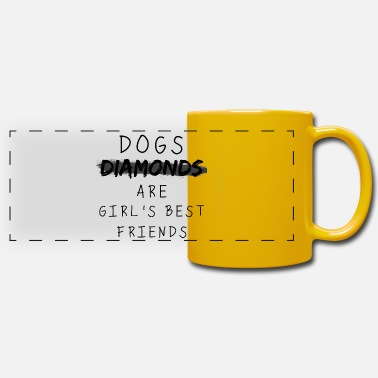 Friend Dogs are Girl's Best Friends - Panoramic Mug