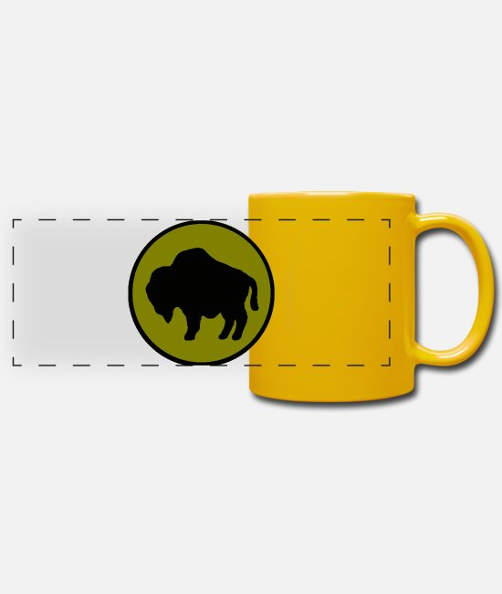 Splitting Mugs & Drinkware - US 92nd Infantry Division - Panoramic Mug sun yellow