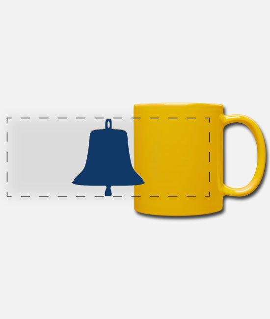Water Mugs & Drinkware - Large ship bell - Panoramic Mug sun yellow