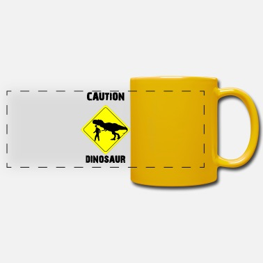 Attention dinosaure (amoureux de l'âge de pierre) - Mug panoramique